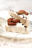 Christmas sweets with almond Royalty Free Stock Photography