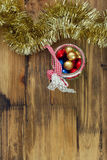 Christmas sweets on brown background Royalty Free Stock Photography