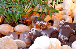 Christmas sweets and cookies. Christmas sweets, cookies and needles Stock Photography