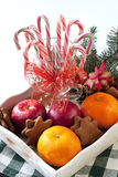 Christmas sweets with holiday decoration Royalty Free Stock Image