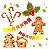 Christmas sweets set Stock Photography