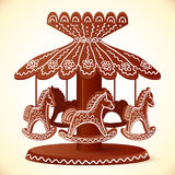 Christmas sweets toy horses chocolate carousel Royalty Free Stock Photos