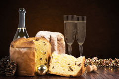 Christmas sweets and wines Royalty Free Stock Photography