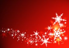 Christmas Swirl. Illustration of snowflakes in a swirl Royalty Free Stock Photography