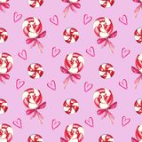 Christmas swirl lollipop Seamless pattern royalty free illustration
