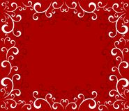 Christmas swirls frame. Christmas ornate frame background. Vector illustration vector illustration