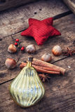 Christmas  symbol and spices Royalty Free Stock Photography