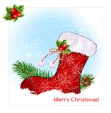 Christmas symbol stocking Royalty Free Stock Photo