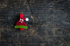 Christmas symbol on wooden background Royalty Free Stock Images