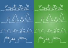 Christmas symbols Stock Photography