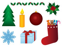 Christmas symbols stock illustration