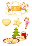 Christmas symbols. Christmas decorative symbols cooking for Santa Royalty Free Stock Images