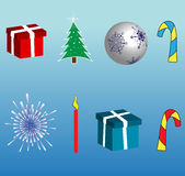 Christmas symbols Stock Photos