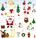 Christmas symbols collection Stock Photos