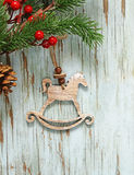 Christmas symbols and decorations Stock Photography