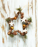 Christmas symbols and decorations Royalty Free Stock Image