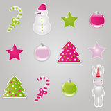 Christmas Symbols And Elements. Vector Stock Photo