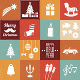 Christmas symbols & icons royalty free illustration