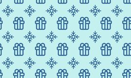 Christmas symbols seamless pattern for gift packaging simple vector illustration.  Stock Photo