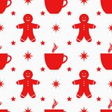Christmas symbols seamless pattern royalty free illustration