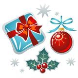 christmas symbols set Royalty Free Stock Photography