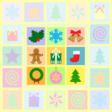 Christmas symbols set Royalty Free Stock Images