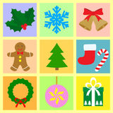 Christmas symbols set Royalty Free Stock Photos