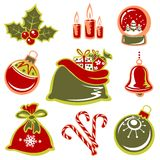 Christmas symbols set Stock Photos