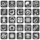 Christmas symbols set Royalty Free Stock Photo