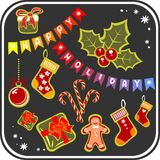 Christmas symbols set Royalty Free Stock Image
