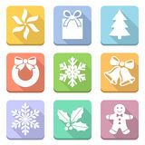 Christmas symbols set Stock Images