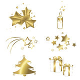 Christmas  symbols. Vector elements Stock Image