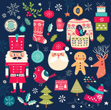 Christmas symbols Royalty Free Stock Photos