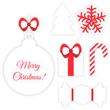 Christmas symbols  on white Stock Photo