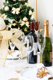 Christmas table Stock Photography