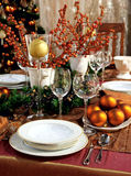Christmas table Royalty Free Stock Image