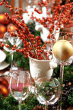 Christmas table Royalty Free Stock Photography