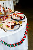 Christmas table Royalty Free Stock Photo