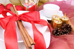 Christmas table Stock Photo