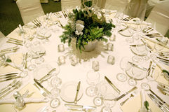 Christmas Table 2. Complete table setting for a formal Christmas dinner Royalty Free Stock Photos