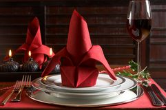 Christmas table Royalty Free Stock Photo