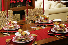 Christmas table Royalty Free Stock Photography