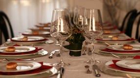 Christmas table Royalty Free Stock Image