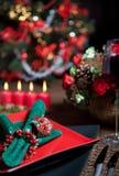 Christmas table 8 stock photo