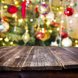 Christmas table for  background Royalty Free Stock Photos