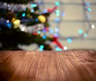 Christmas table background Stock Photography