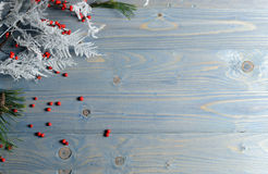 Christmas table background Royalty Free Stock Photos
