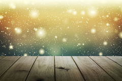 Christmas table background.Wooden background Stock Image