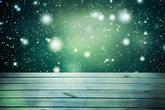 Christmas table background.Wooden background. Christmas table background. New year Stock Images