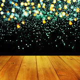Christmas table background.Wooden background. Christmas table background. New year Stock Photos